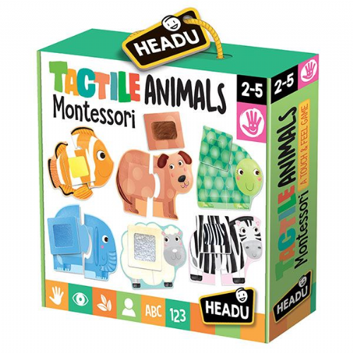 HEADU Tactile Aminals Childrens Montessori Education Kids 2-4